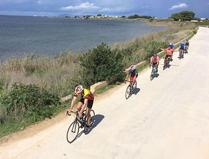 Bikers along the salt marshes.JPG