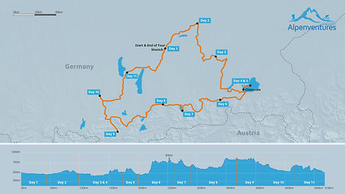 Breweries of Bavaria Bike Tour Map