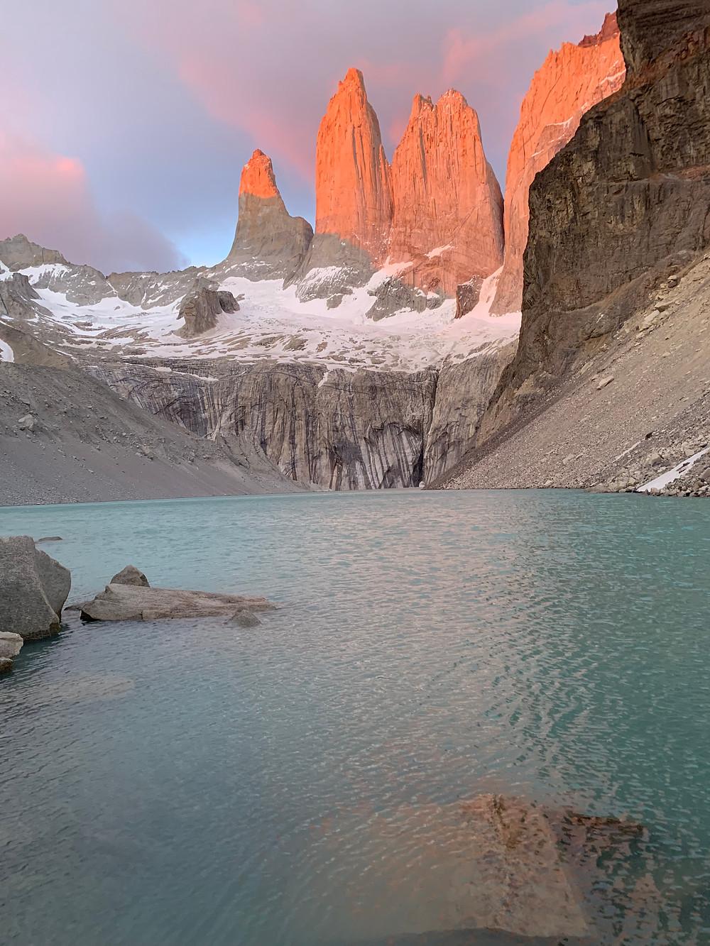 Sunrise at Las Torres on the W-Trek