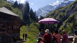 Huts along the Bernese Overland