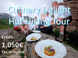 Culinary Delight Hut Hiking Tour