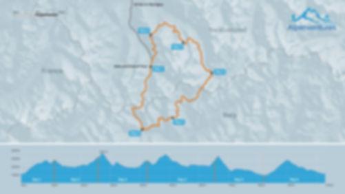 Tour du Mont Blanc Alternative elevation profile