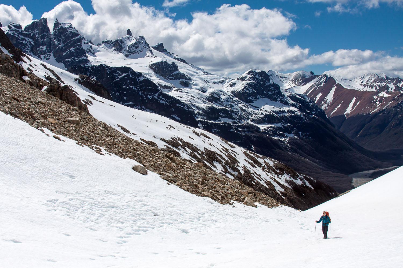 Snowy pass while backpacking Circuit Las Horquetas