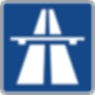 Freeway sign in the Alps