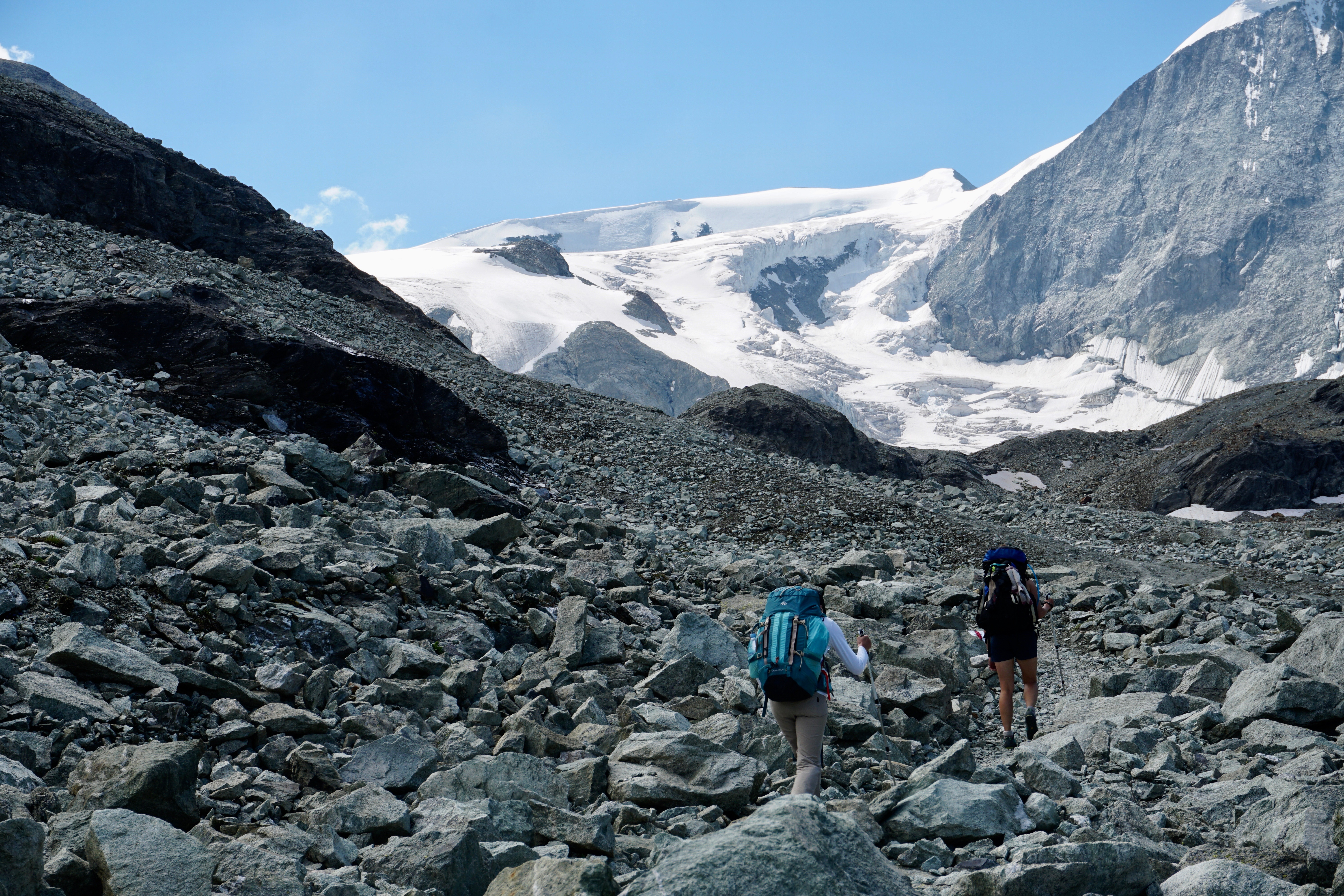 Haute Route Hike with glacier views