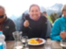 Food at mountain hut