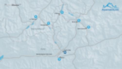 Italian and Swiss Ski Safari map