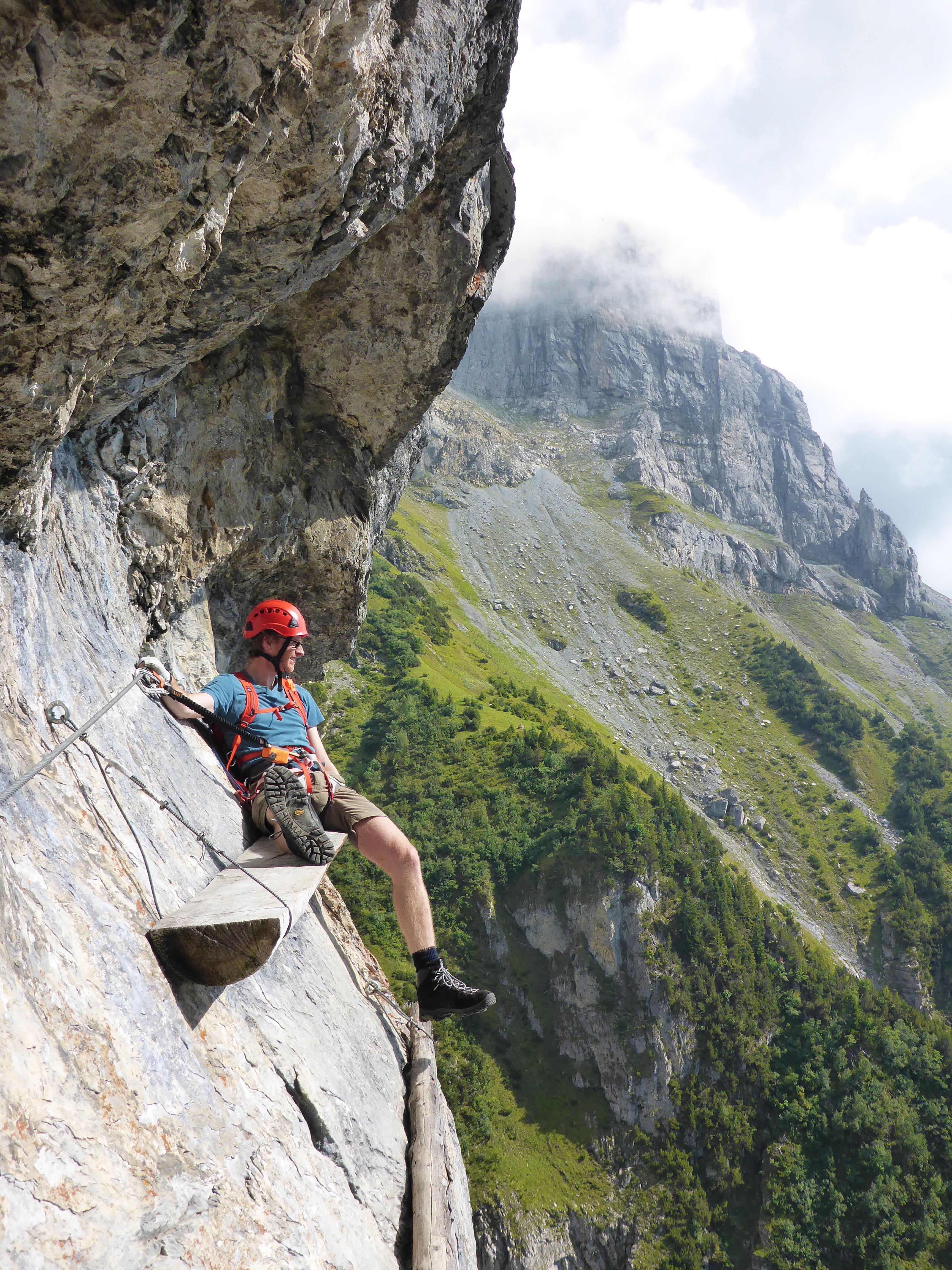 Climber enjoying the views