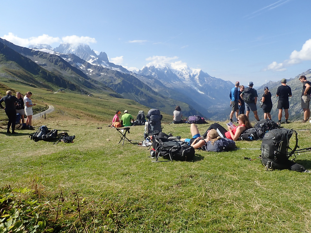 Crowds on the Tour du Mont Blanc