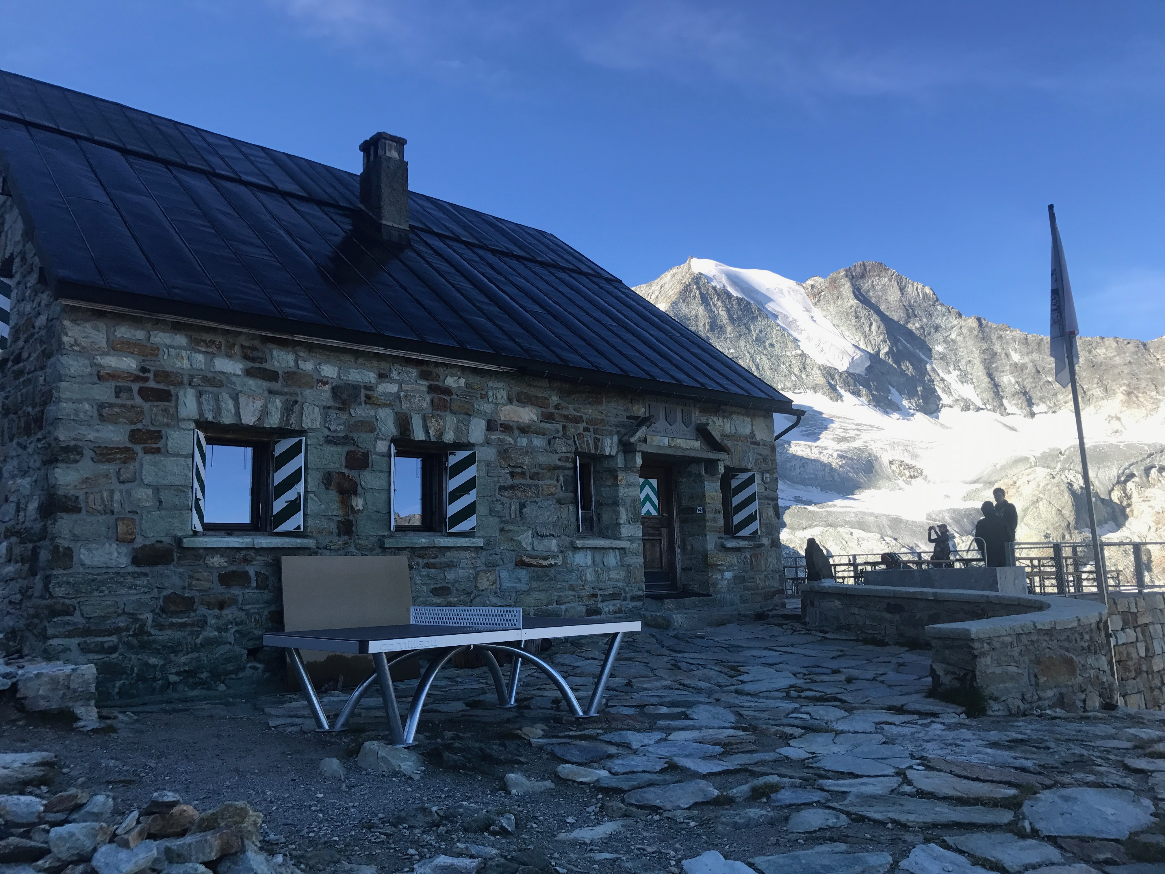 Mountain huts on the Haute Route