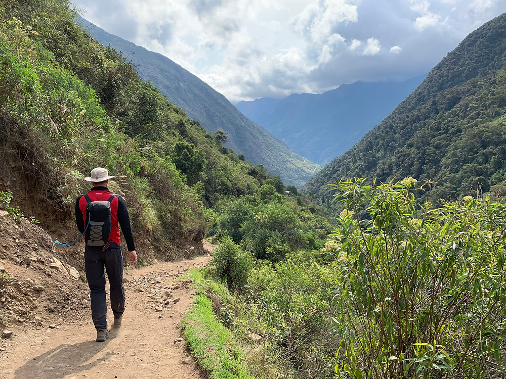 Descending into the Amazon cloud forest on the Salkantay Trek