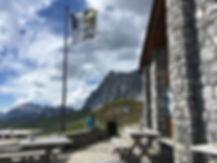 Mountain hut terrace