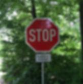 Stop sign in German