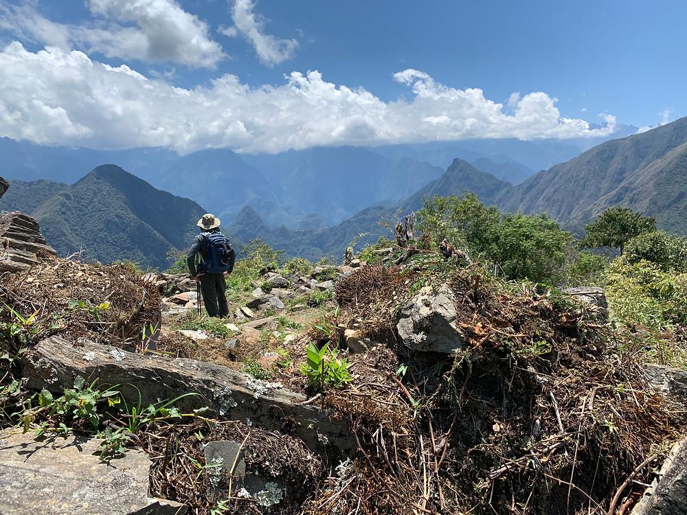 Admiring Machu Picchu from afar