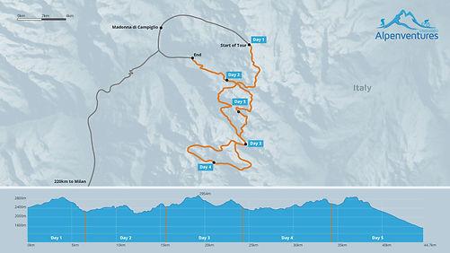 Via Ferrata Tour Map