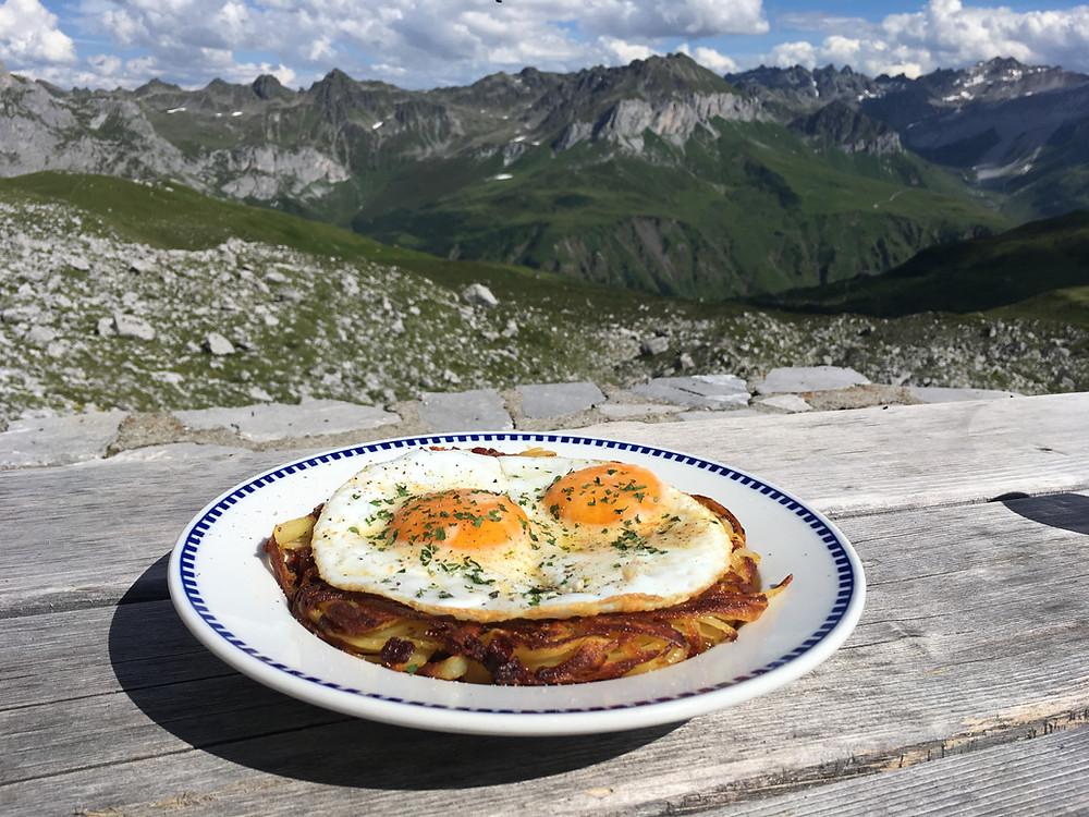 Food at an Austrian Hut