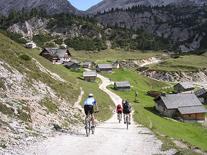 Mountain biking in the dolomites