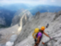 Group of climbers on a Via Ferrata