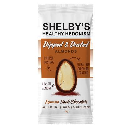 Shelby's Almonds Espresso & Dark Chocolate 40g