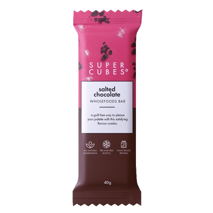 Super Cubes Wholefoods Bar Salted Chocolate 40g