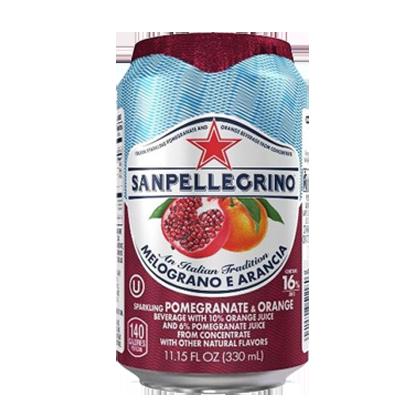 San Pellegrino Sparkling Pomegranate & Orange 330ml