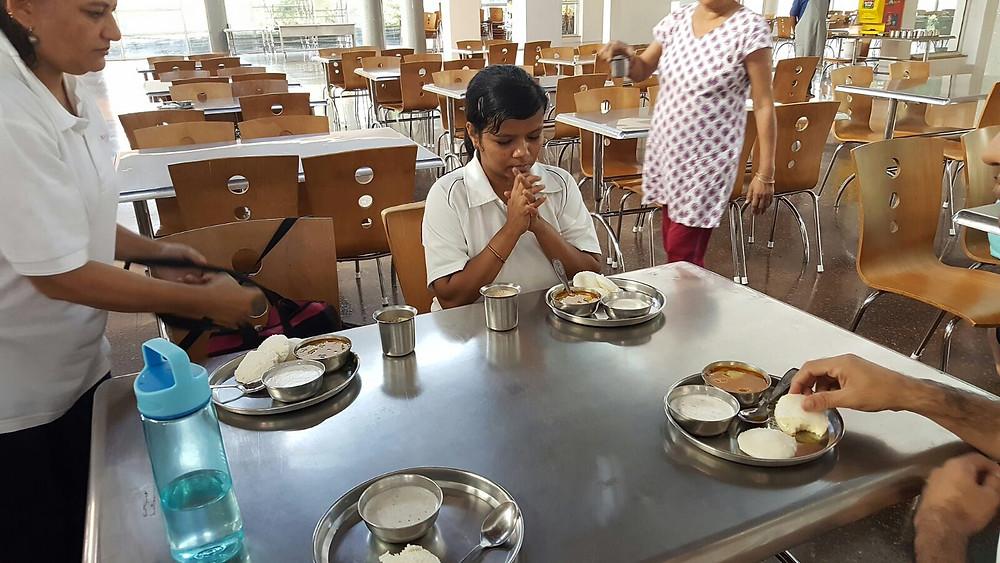 Sattvic food at Chinmaya vibhooti Canteen