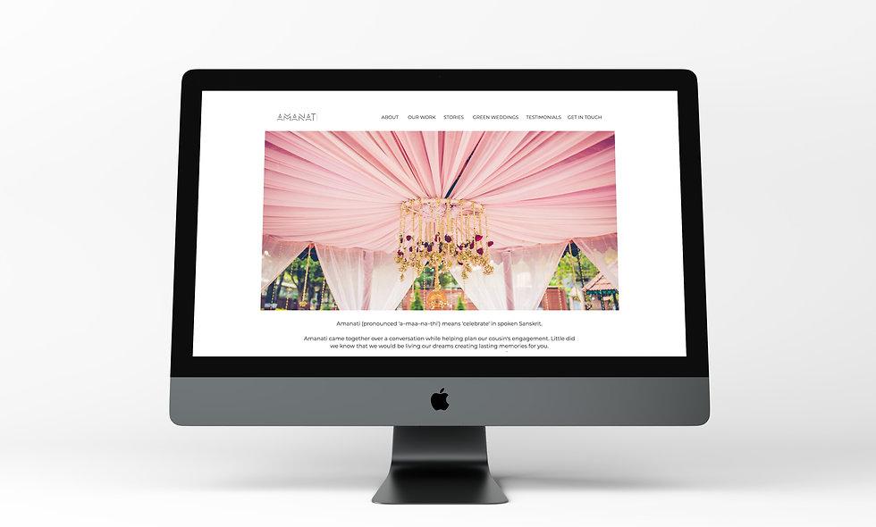 Amanati Website Homepage