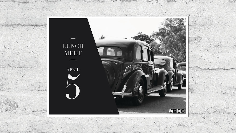 Madras Heritage Motoring Club Lunch Invite Front