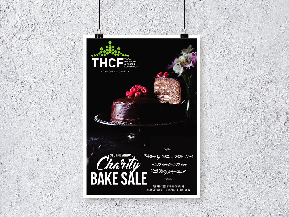 Charity Bake Sale 2018 Poster