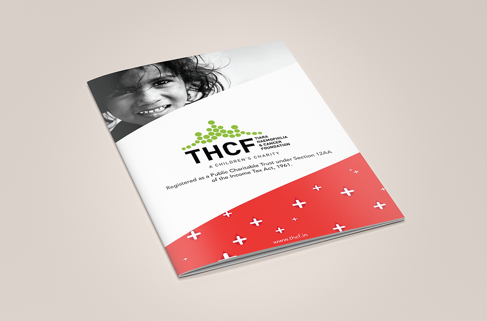 THCF Children's Charity Brochure Top View