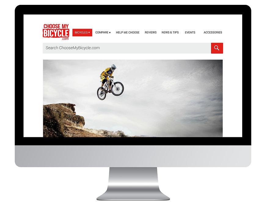 ChooseMyBicycle.com Homepage