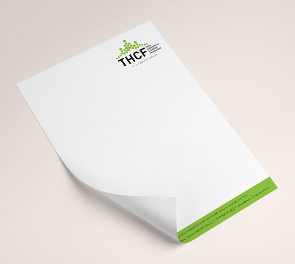 THCF Children's Charity Letterhead