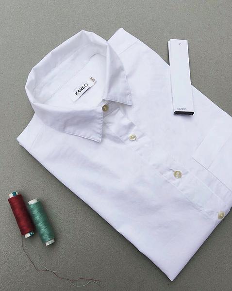 Kanso Classic Cotton Shirt Flat lay