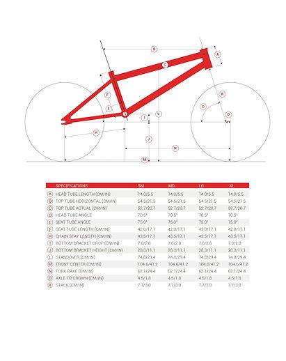 ChooseMyBicycle.com BMX Bicycle Geometry Illustration