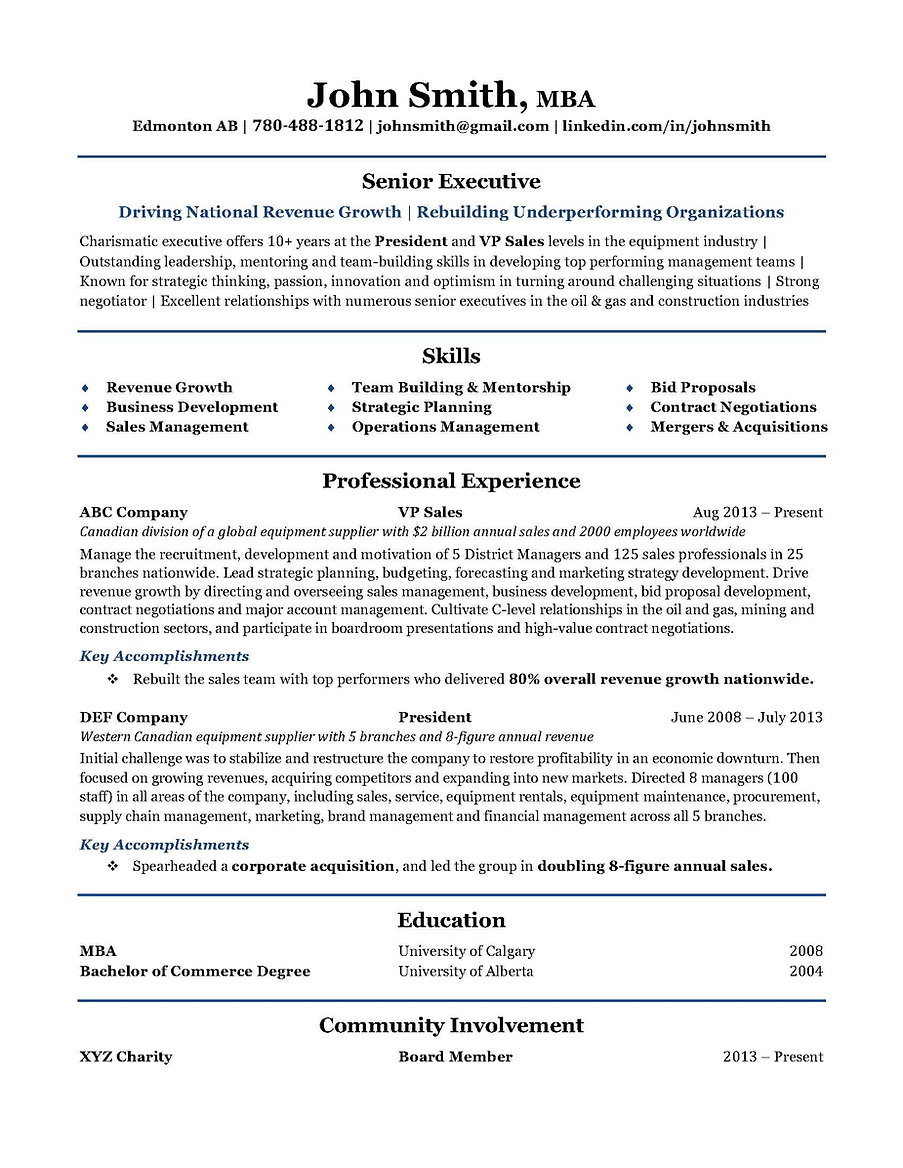 Edmonton Resume Builder High Impact Resumes Ltd.