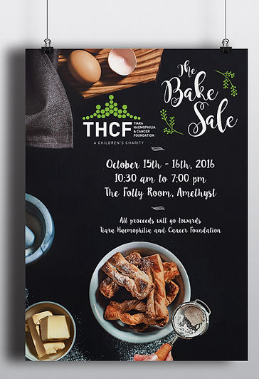 THCF Children's Charity Bake Sale Poster