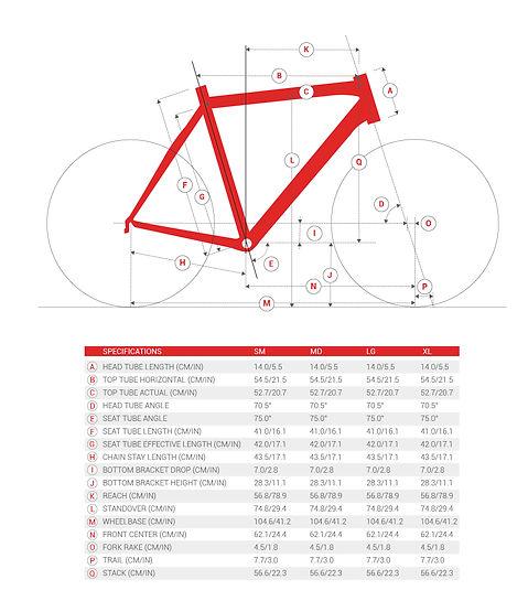 ChooseMyBicycle.com Road Bicycle Geometry Illustration