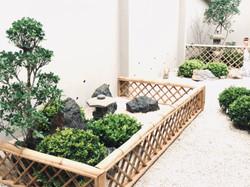 Jardín estilo seco