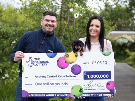 LOTTERY WINDFALL FOR KEY WORKER WHO SAVED POLICEMAN'S LIFE