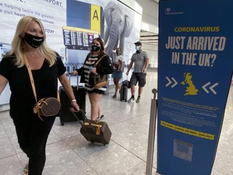 Travellers Must Test Negative For Covid To Enter England And Scotland
