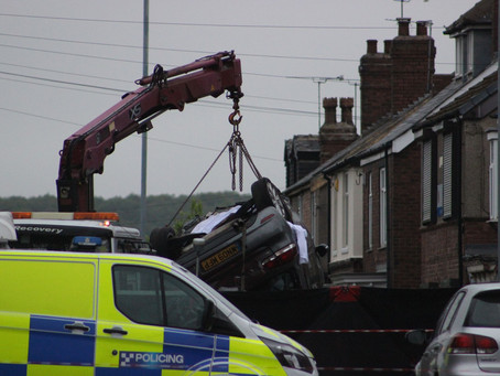 Man dies after car flips over in crash in Rotherham