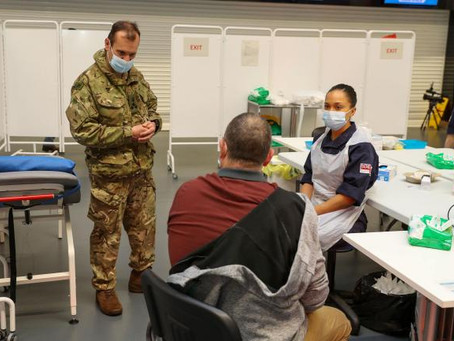 Navy Medic's Pride At Taking Part In Vaccination Drive