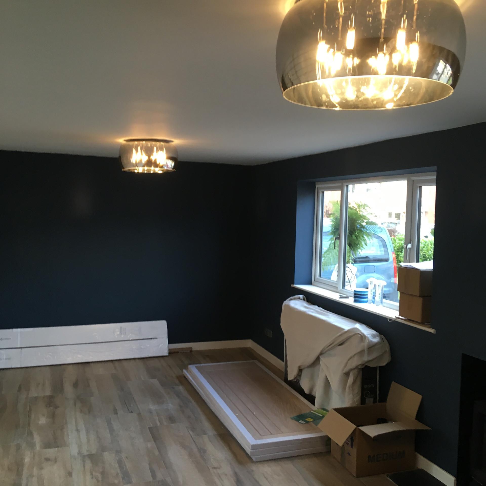 Designer lounge lighting scheme