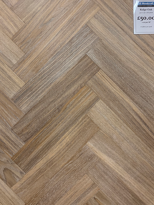 Ridge Oak Herringbone 450 x 90 x 15/4mm