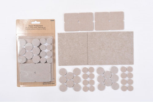 42 Piece Multi Pack Self-Adhesive Felt Pads – 5mm Thick