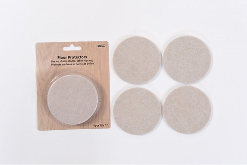4 Piece Felt Packet – 75mm Diameter – 5mm Thick