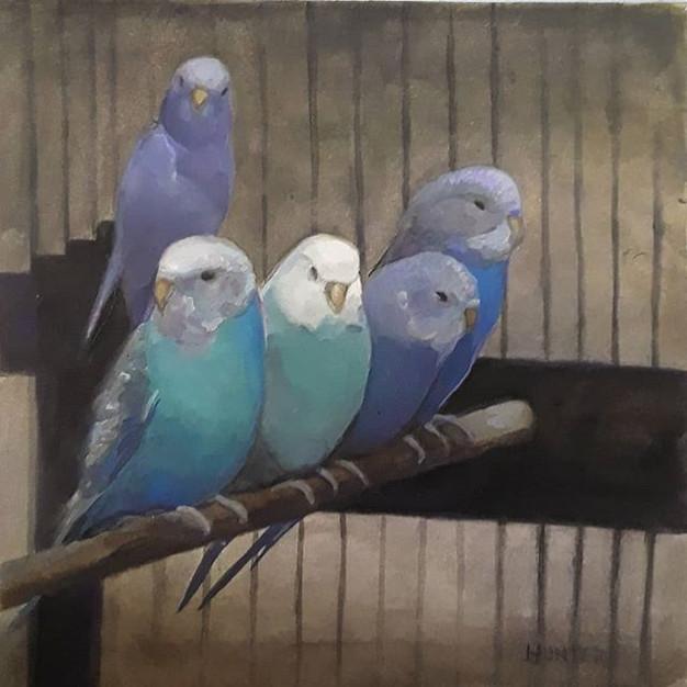 Little birds _Sold__#gouache #gouachepai