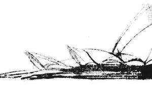 Sydney Opera - architectural sketch (Façades Confidential)