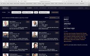 Signal investor - startup matching platform