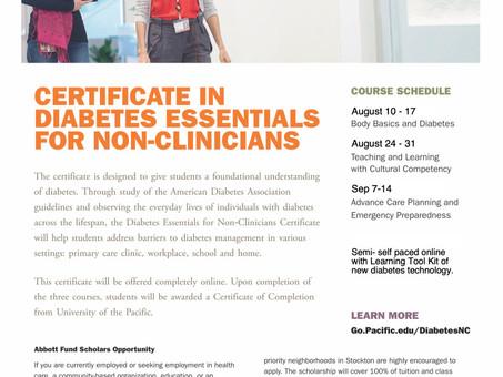 Diabetes management certification